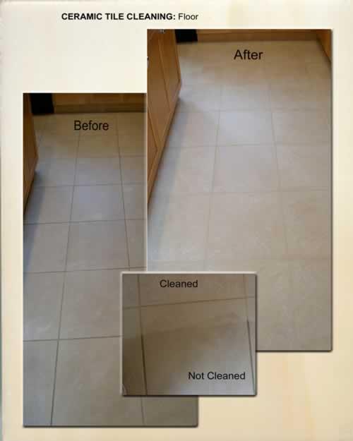 Ceramic Tile Cleaning - Floor