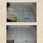 Ceramic Tile Cleaning - Kitchen Counter