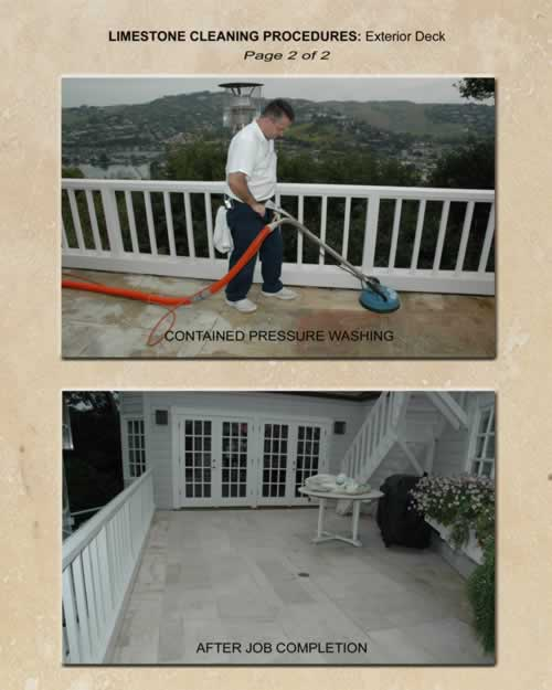 Limestone Cleaning Procedures Exterior Deck 2