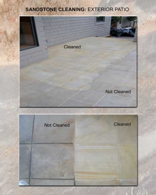 Sandstone Cleaning Exterior Patio 1