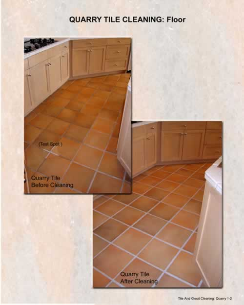 Quarry Tile Cleaning:  Floor