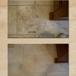 Travertine Cleaning: Floor 1